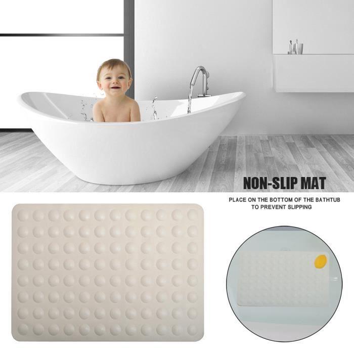 Tapis de plancher de douche de baignoire de tapis de salle de bains antidérapant doux d'hôtel à la maison avec la ventouse - Return