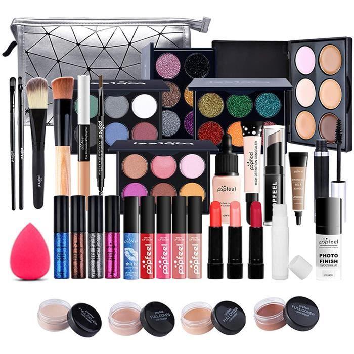 COFFRET DE MAQUILLAGE LEAMALLS 37 Pcs Palettes de Maquillage Professionnel Malette Maquillage Palette Coffret Paupi&egravere 39