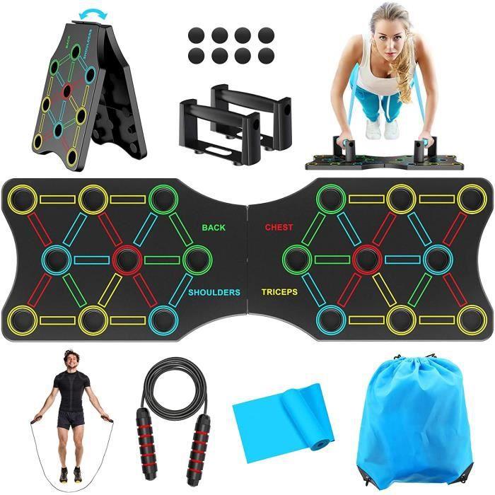 19 en 1 Push Up Board Jointif Planche Panneau Multifonctionnelle Équipement Professionnel de Fitness Musculation Physique à Maison