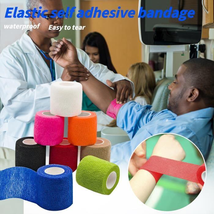 8 rouleaux de bande élastique auto-adhésive de bande élastique de protection de la peau pour animaux de compagnie Miaienu 1149