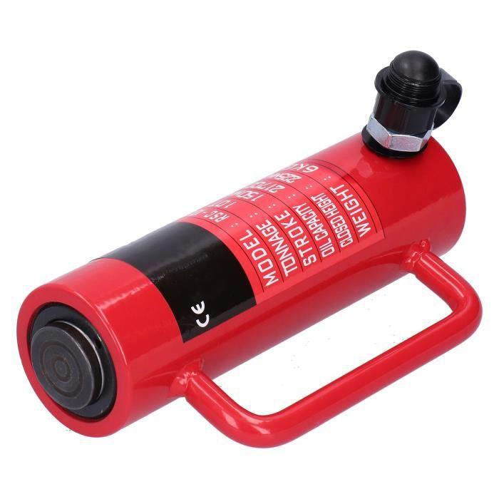 Fafeicy Cric de vérin hydraulique Cylindre Hydraulique Ultra Mince Séparé Industriel 10 Tonnes Trou Creux Fournitures RSC‑10150