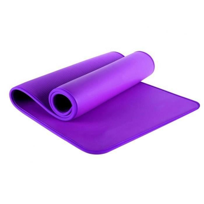 Tapis de sol,Tapis de Yoga épais antidérapant, tapis de Sport, exercice physique, Pilates, coussin - Type Violet