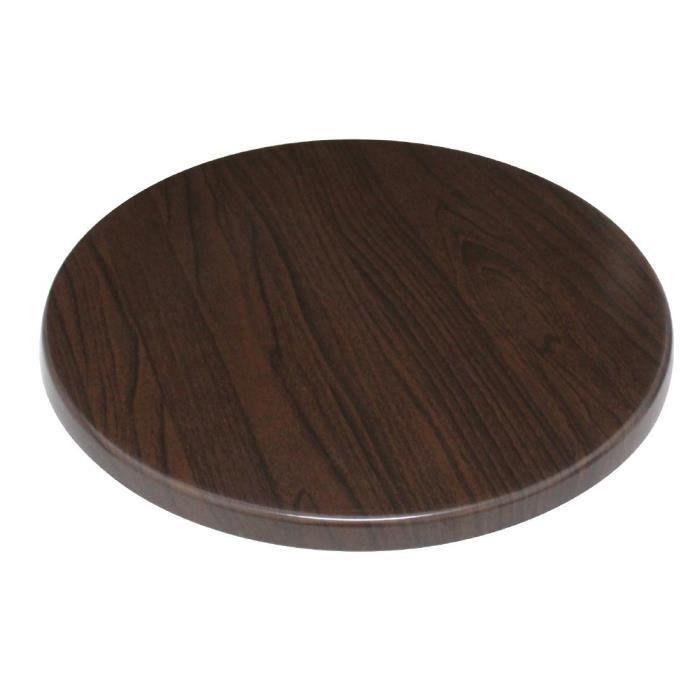 Ronde Boléro table brun foncé 600mm