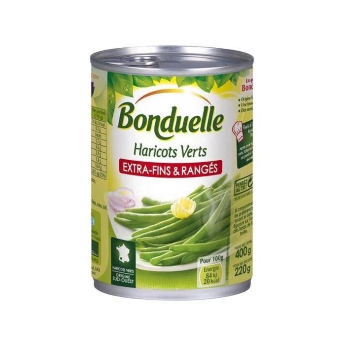 Bonduelle Haricots Verts Extra Fins & Rangés 400g (lot de 10)