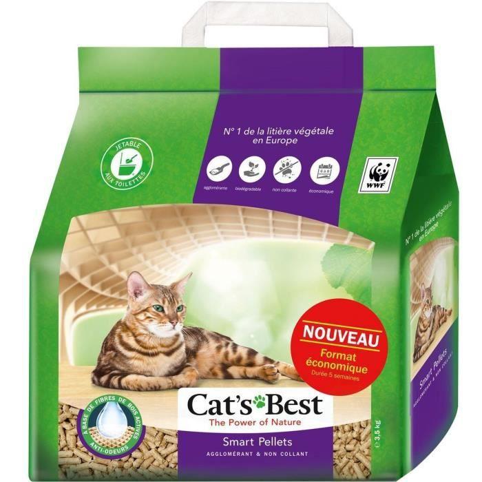 CAT'S BEST Litière végétale agglomérante pour chat - 7 l