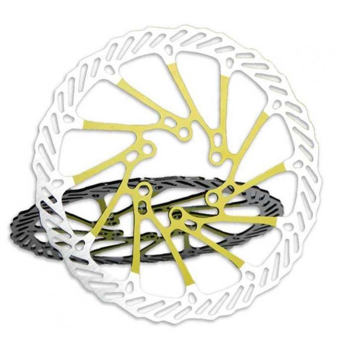Rotor à vélo 160mm Ultra Light Bike Vélo Vélo Vélo Vélo G3 Frein Cyclisme Rotor Vélo Vélo Rotors Jaune 1PC