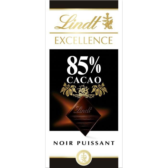 LINDT Tablette chocolat noir - 85% cacao - 100 g