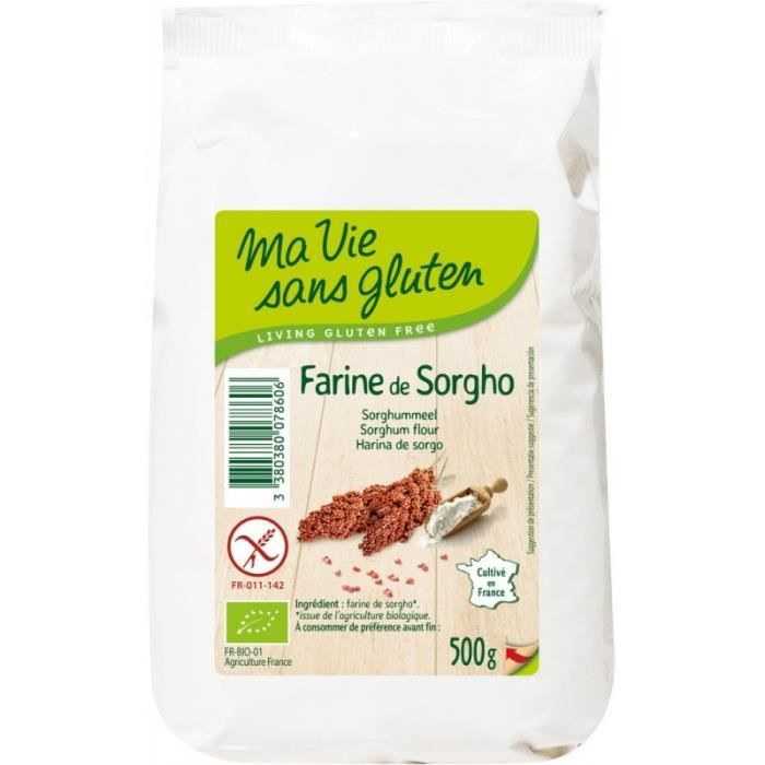 Farine de Sorgho Bio - Sans gluten - 500g - Ma vie sans gluten