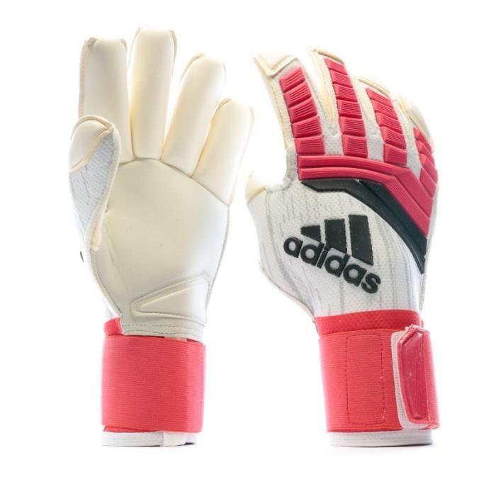 Predator Fingertip Gants de gardien foot blanc Adidas