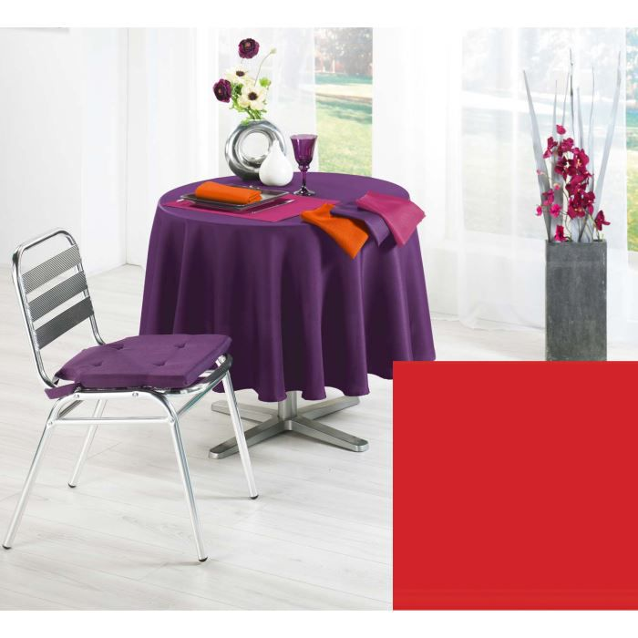 Nappe ronde 180 cm TRENDY rouge