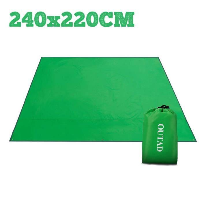 240x220cm Tapis de Plage Couverture de Pique-Nique, Imperméable Anti Sable Tapis Idéal pour Plage, Pique-Nique, Camping, Èvénements