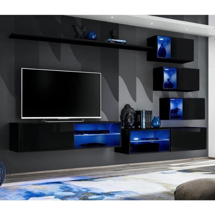 Ensemble Meuble Tv Design -switch Xxiv- 260cm Noir - Paris Prix