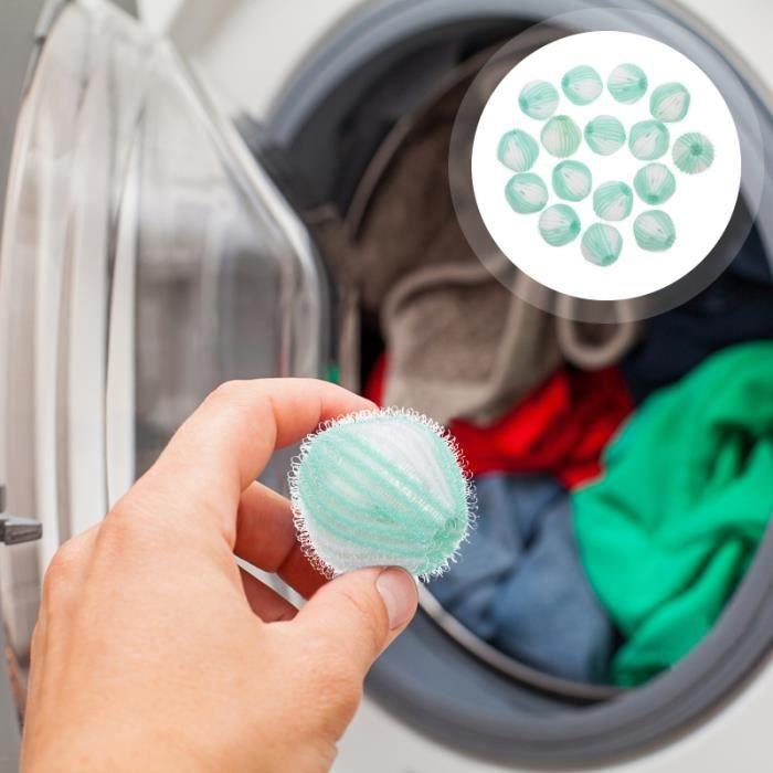 1 lot de 16 boules de lessive pour machine à laver, ramasse-peluches, de lavage (vert) LAVE-LINGE