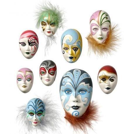 Moules 9 Masques Miniatures pour Fimo