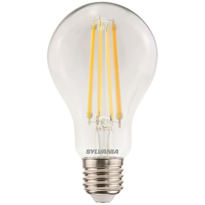 SYLVANIA - Led filament claire 1521lm 12W 2700K, culot E27 dimmable