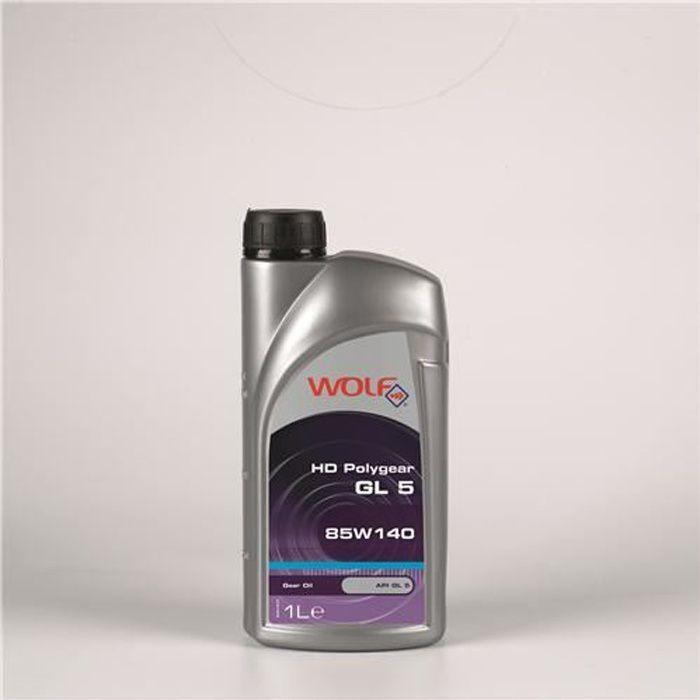 Bidon 1 litre d'huile 85W140 Wolf POLYGEARGL585…