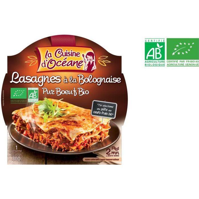 Lasagnes à la bolognaise bio 300g La Cuisine D'Océane