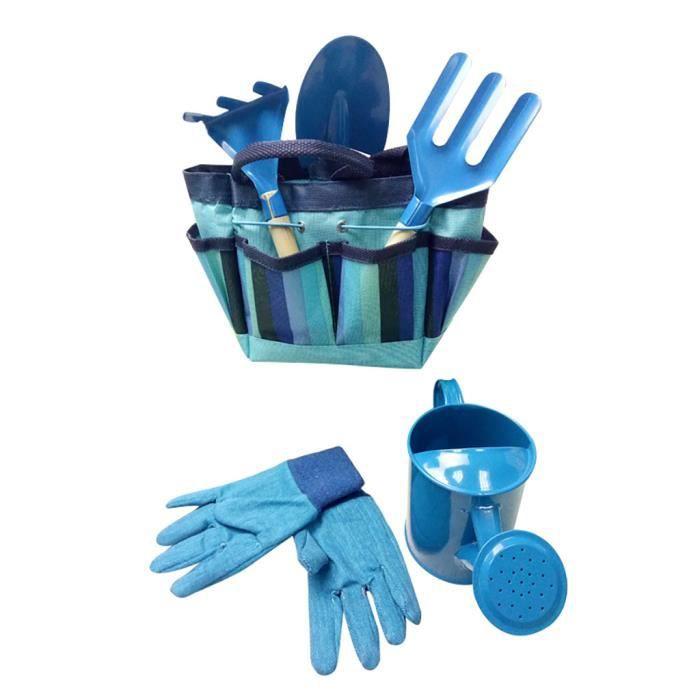 Jouets /éducatifs pour enfants 6 PCS//Set Outils de jardinage pour enfants Set de jardin ext/érieur en m/étal pelle gants Kit bouilloire
