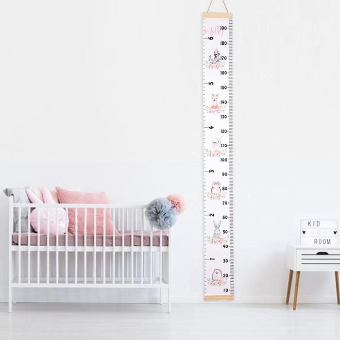 Bois Comme Enfants Toise Croissance De Mesure Hauteur R/ègle Stickers Muraux Pour Nursery Kids Room Decor