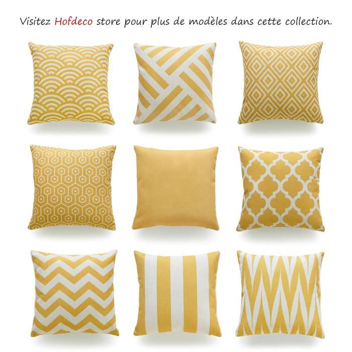 hofdeco housse de coussin d coratif moutarde jaune g om trique balance jaune coton lin tissu de. Black Bedroom Furniture Sets. Home Design Ideas
