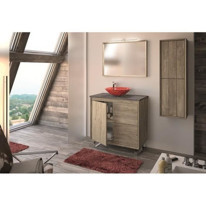 refuge meuble sous vasque 80 cm a poser plan aspect. Black Bedroom Furniture Sets. Home Design Ideas