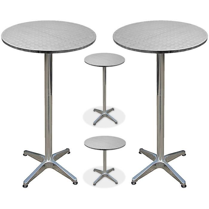2 x table de bar bistro cuisine achat vente table de for Achat table bar