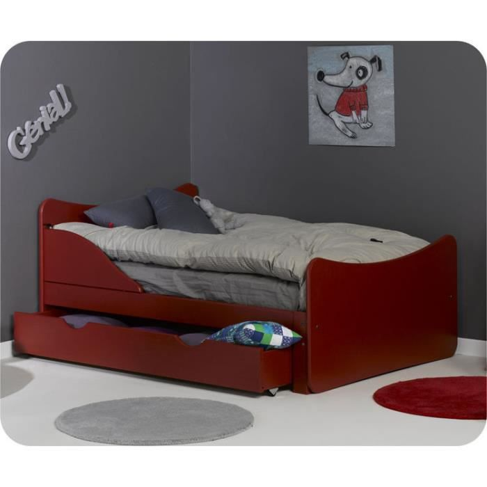 eb lit enfant volutif ivoo rouge achat vente lit evolutif eb lit enfant volutif iv. Black Bedroom Furniture Sets. Home Design Ideas