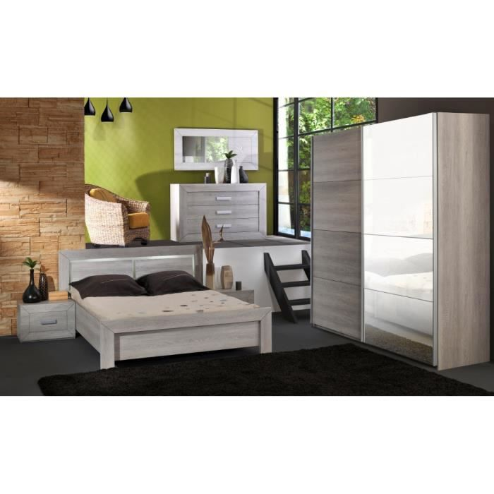 Chambre adulte compl te virginia ii 140 x 190 cm achat for Vente chambre complete adulte