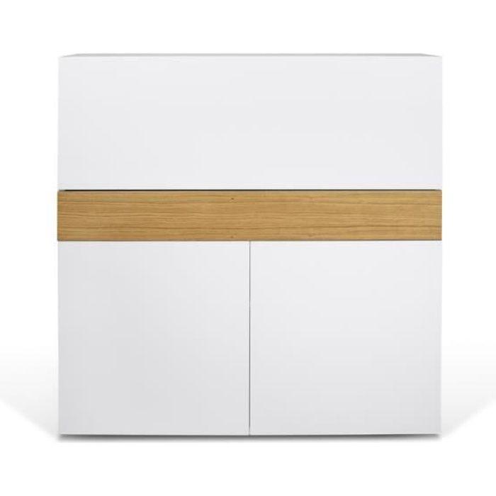 Meuble Secretaire Design Focus Blanc Achat Vente