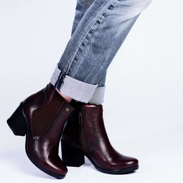 Bottines - Galia Brown en cuir marron - 40,5