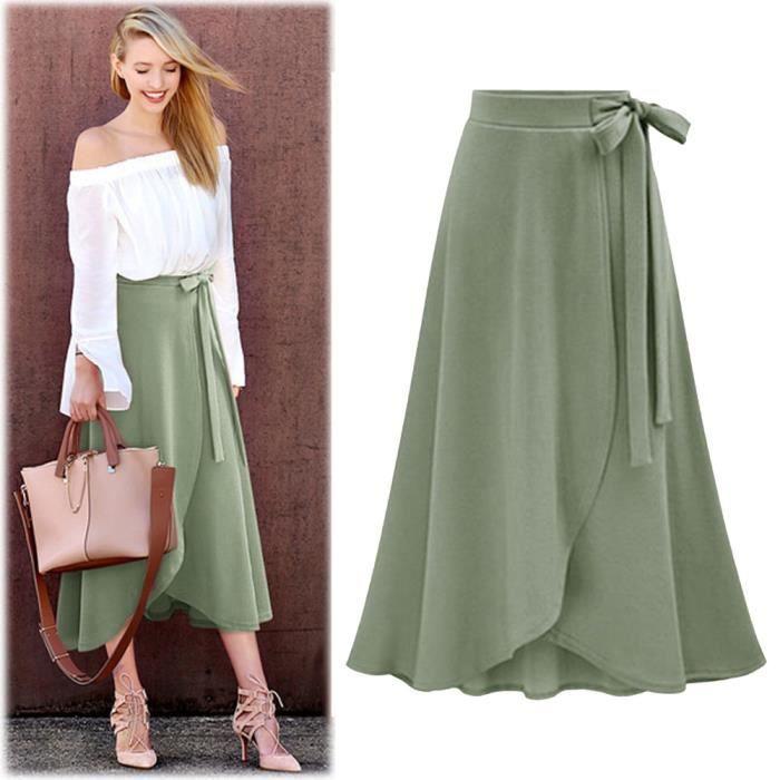 JUPE Mode Jupe à taille haute Femme irrégulière jupe lo