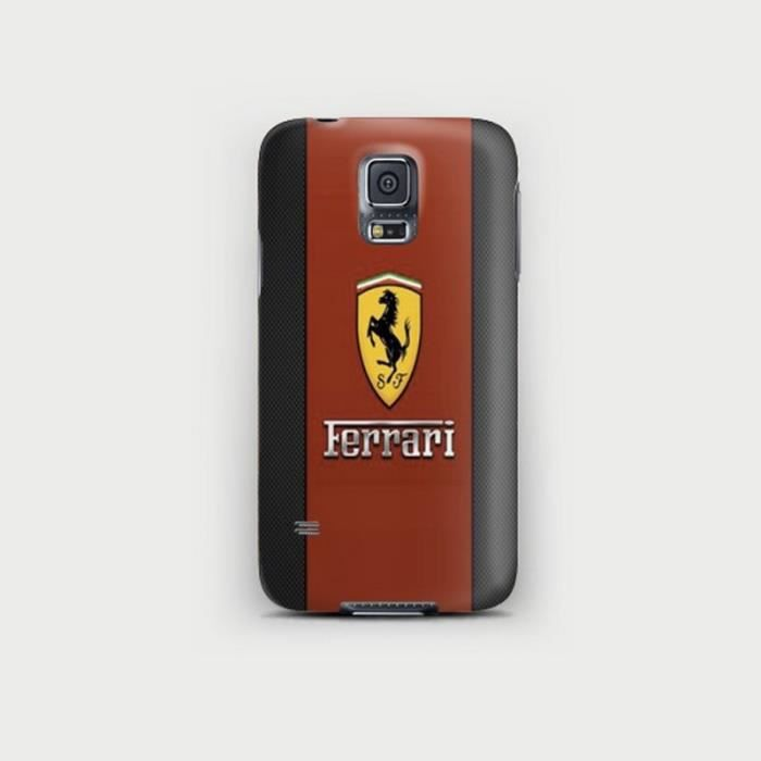 coque samsung galaxy s5 mini logo ferrari achat coque. Black Bedroom Furniture Sets. Home Design Ideas