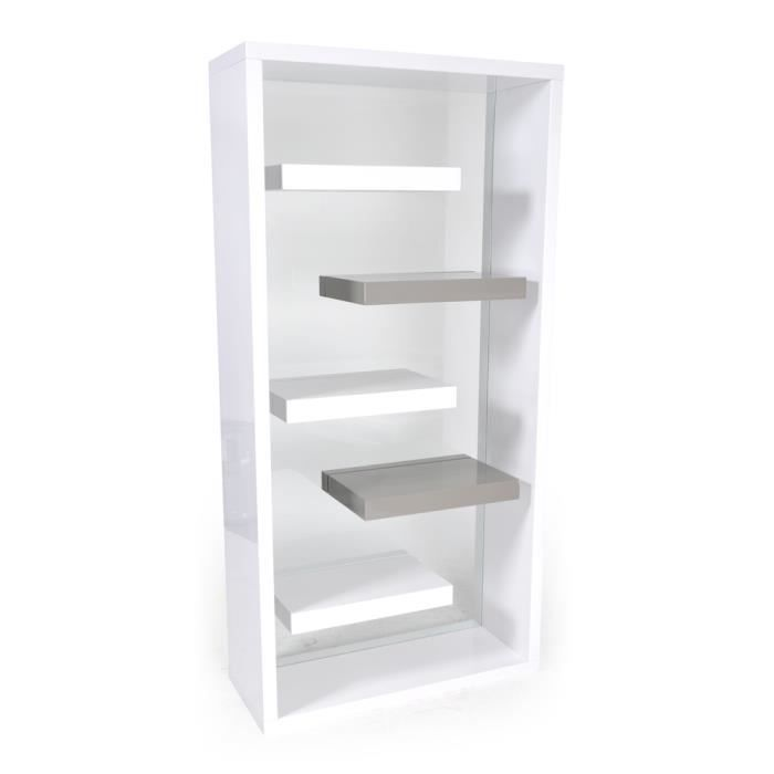 Etagere blanche laquee maison design for Meuble tag re