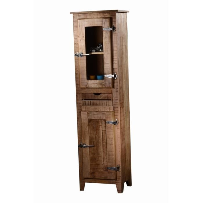 armoire 1 porte frigo 2 bois naturel achat vente. Black Bedroom Furniture Sets. Home Design Ideas