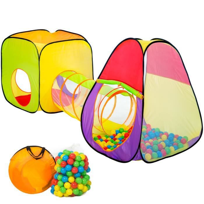 Tente enfant tente balles cubique et igloo piscine de for Tunnel pour piscine