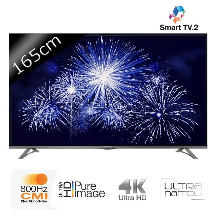 thomson tv 65ua6606 uhd 4k 165cm 65 pouces led smart tv wifi dlna mhl 4 hdmi. Black Bedroom Furniture Sets. Home Design Ideas