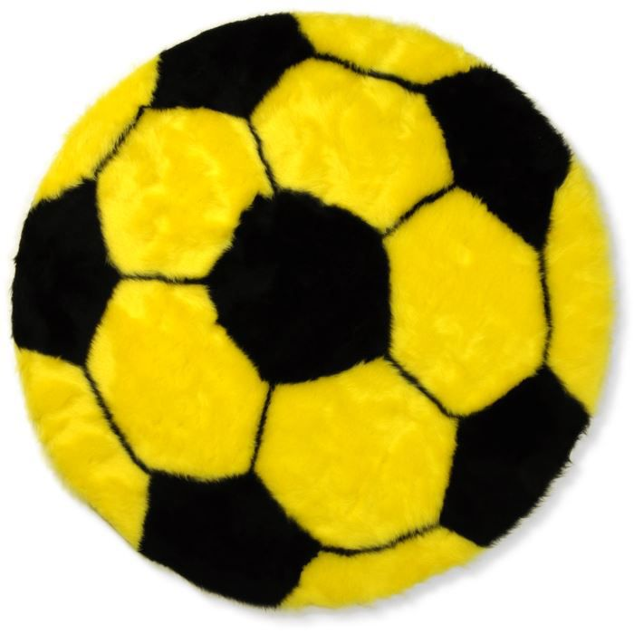 tapis enfant ballon de foot jaune et noir unive achat vente tapis de jeu cdiscount. Black Bedroom Furniture Sets. Home Design Ideas