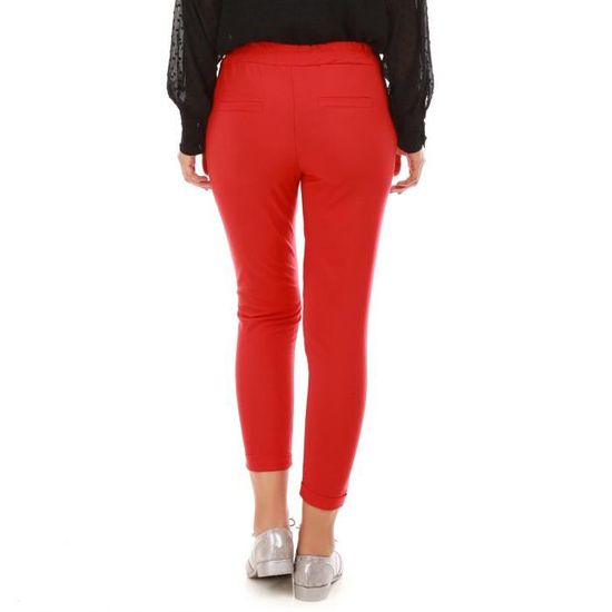 1bc1fcc1355248 Pantalon à pinces rouge