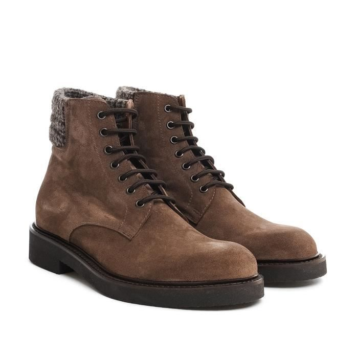ELEVENTY HOMME 979SR0001SCA200074 MARRON CUIR BOTTINES