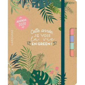 AGENDA - ORGANISEUR Green agenda. Cette année je vois la vie en green