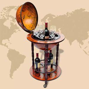 CAVE À VIN Support de vin sous forme de globe Bois 47 x 47 x