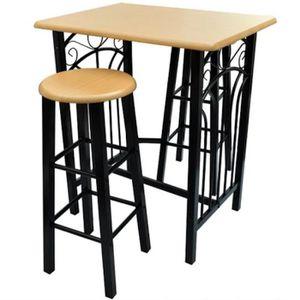 TABOURET DE BAR Lot de 2 tabourets de bar chaise avec table haute
