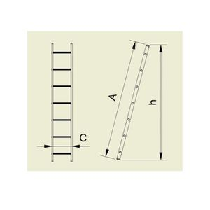 Echelle aluminium genia 3m simple 9 echelons OUTIFRANCE-8840030