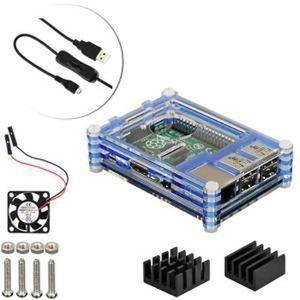 CARTE MÈRE 4 en 1 Kit Professionnel Pour Raspberry Pi 3 &