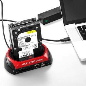 LECT. INTERNE DE CARTE Multifonctionnel HDD Station D'accueil Double USB