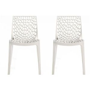 Chaise blanche et rouge achat vente chaise blanche et - Chaise blanche design ...