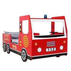 STRUCTURE DE LIT Lit enfant design camion pompier -  205x94,5x103cm