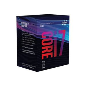 PROCESSEUR Intel Core i7 8700 3.2 GHz 6 cœurs 12 fils 12 Mo c