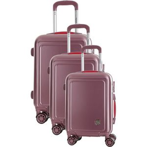 SET DE VALISES COCONUT Set de 3 Valises 8 Roues S/M/L Rose