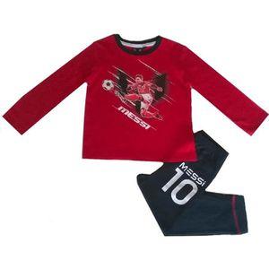 PYJAMA Pyjama long FC Barcelone Messi rouge et bleu marin